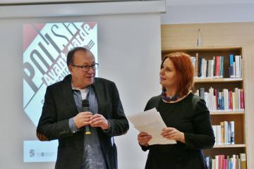 Eröffnung der Konferenz Prof. dr hab Robert Traba, dr Małgorzata Stolarska-Fronia