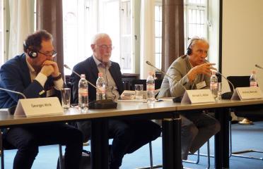 Georges Mink (Paris/Warschau) , Michael G. Müller (Halle-Wittenberg), Andrzej Mencwel (Warschau)